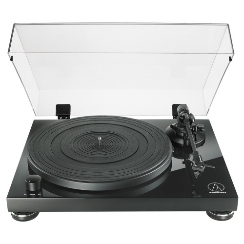 Audio-Technica AT-LPW50PB Manual Belt Drive Wood Base Turntable - Piano Black