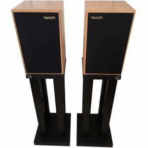 Harbeth P3ESR Loudspeakers + HiFi Racks Stands
