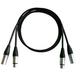 Silver Mogwai 2 XLR to 2 XLR Interconnect Cable