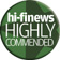 HI-FI NEWS COMMENDED